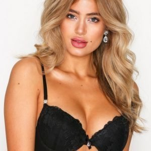 Nly Lingerie Sexy Push-Up Lace Bra Rintaliivit Musta