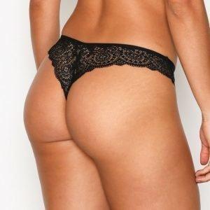 Nly Lingerie Super Soft Panty Brazilian Alushousut Musta