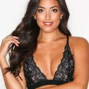 Nly Lingerie Up Top Triangle Bralette Rintaliivit Musta