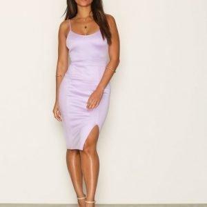 Nly One Bandage Slit Dress Kotelomekko Vaaleanvioletti