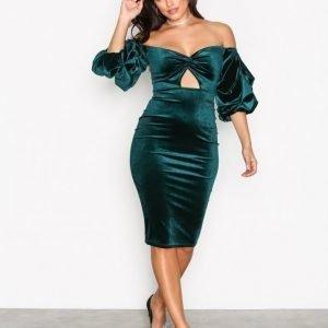 Nly One Bandeau Luxe Dress Kotelomekko Vihreä