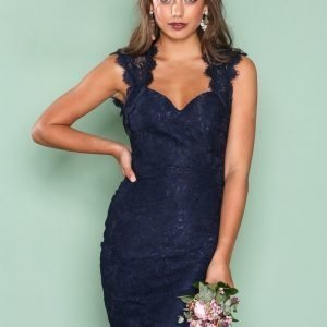 Nly One Bombshell Lace Dress Kotelomekko Navy