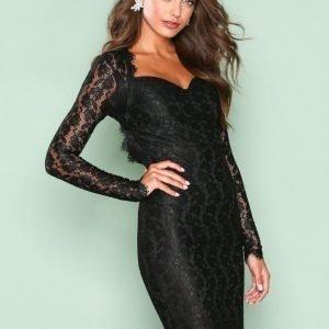 Nly One Bombshell Ls Lace Dress Kotelomekko Musta