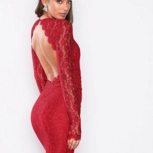 Nly One Bombshell Ls Lace Dress Kotelomekko Punainen