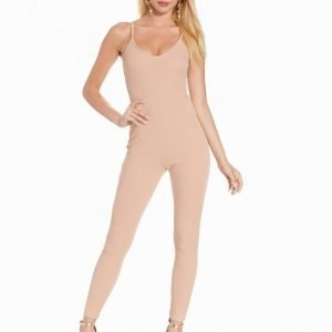 Nly One Cami Crepe Jumpsuit Beige