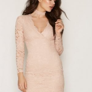 Nly One Choker Lace Dress Kotelomekko Puuteriroosa