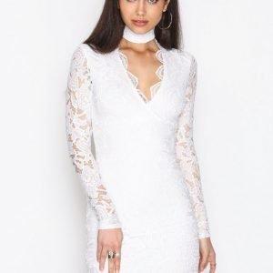 Nly One Choker Lace Dress Kotelomekko Valkoinen