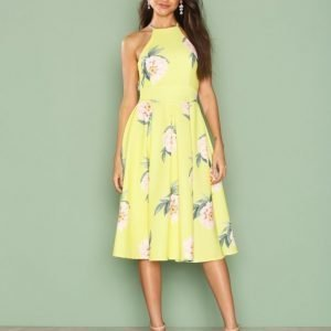 Nly One Cross Back Midi Dress Skater Mekko Kuviollinen