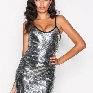 Nly One Disco Mini Dress Kotelomekko Hopea