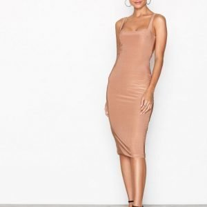 Nly One Double Layer Bodycon Kotelomekko Camel