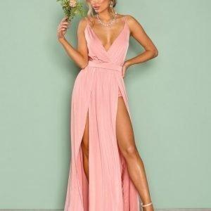 Nly One Double Slit Maxi Dress Maksimekko Rose