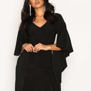 Nly One Dramatic Sleeve Dress Loose Fit Mekko Musta