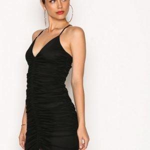 Nly One Drawstring Mesh Dress Kotelomekko Musta
