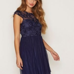 Nly One Follow Me Lace Dress Skater Mekko Navy