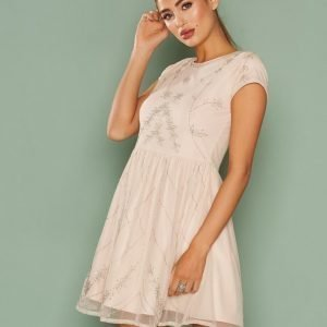 Nly One Forever Beaded Dress Skater Mekko Champagne