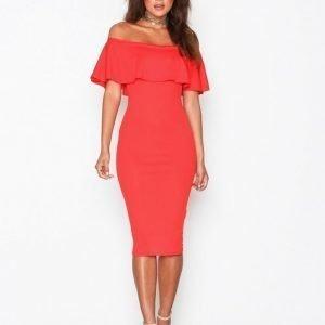 Nly One Frill Crepe Dress Kotelomekko Punainen