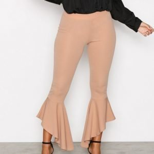 Nly One Frill Pant Leggingsit Beige