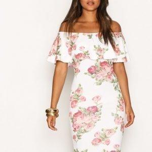 Nly One Frill Print Dress Kotelomekko Kuviollinen