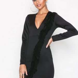 Nly One Front Frill Dress Kotelomekko Musta