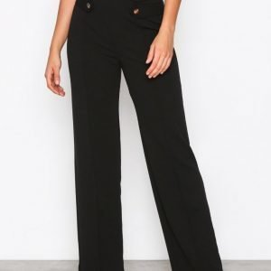 Nly One Gold Button Pant Housut Musta