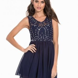 Nly One Jewelery Skater Dress Juhlamekko Navy