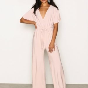 Nly One Kimono Sleeve Jumpsuit Beige