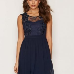 Nly One Lace Cover Dress Skater Mekko Navy