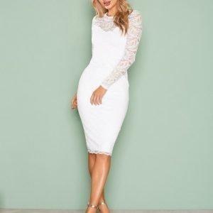 Nly One Lace Midi Dress Kotelomekko Valkoinen