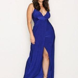 Nly One Low Plunge Maxi Dress Maksimekko Cobalt Blue