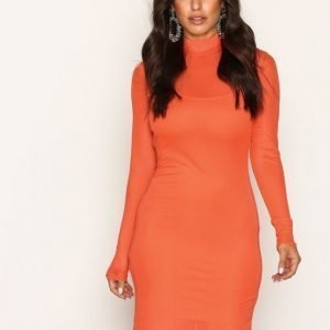 Nly One Mesh Dress Kotelomekko Oranssi