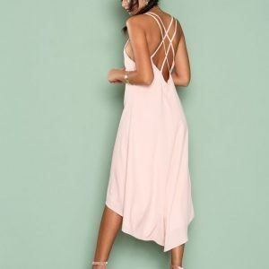 Nly One Midi Strap Dress Loose Fit Mekko Vaalea Pinkki
