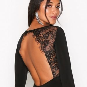 Nly One Open Back Lace Body Musta