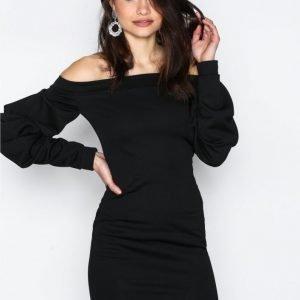 Nly One Oversize Sleeve Dress Kotelomekko Musta