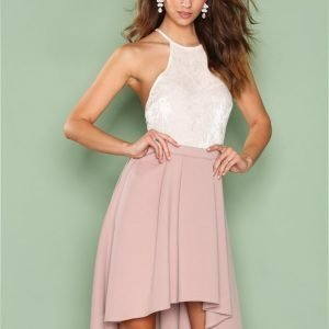 Nly One Pleated High Low Skirt Midihame Vaaleanvioletti