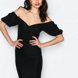 Nly One Puff Sleeve Dress Kotelomekko Musta