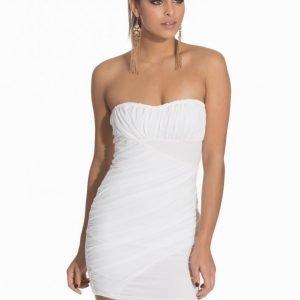 Nly One Ruched Chiffon Dress Kotelomekko Valkoinen