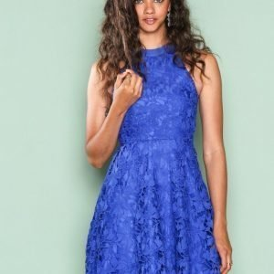 Nly One Scallop Lace Dress Skater Mekko Sininen