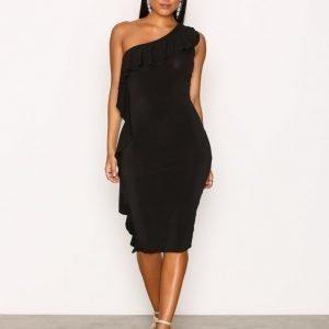 Nly One Side Frill Dress Kotelomekko Musta