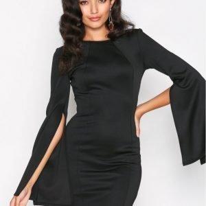 Nly One Slit Sleeve Dress Kotelomekko Musta