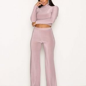 Nly One Soft Touch Set Jumpsuit Mauve