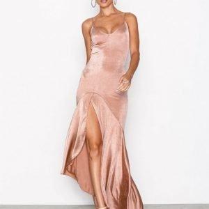 Nly One Split Frill Dress Maksimekko Rose
