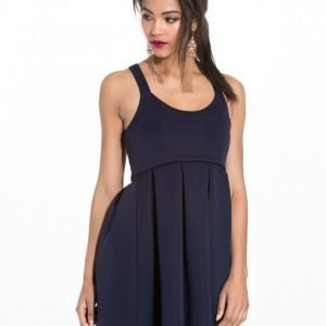 Nly One Square Neck Dress Juhlamekko Navy