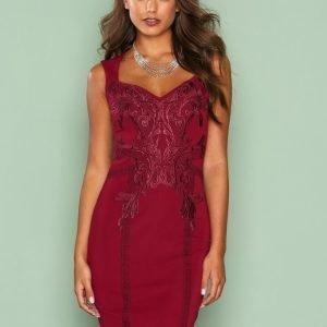 Nly One Sweet Lace Dress Kotelomekko Burgundy