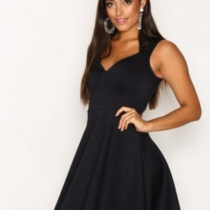 Nly One Sweetheart Skater Dress Skater Mekko Navy