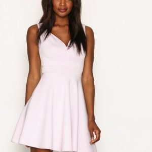Nly One Sweetheart Skater Dress Skater Mekko Vaaleanvioletti