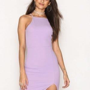 Nly One Thigh Slit Dress Kotelomekko Laventeli