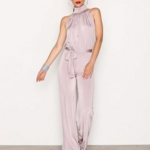Nly One Turtle Neck Jumpsuit Taupe