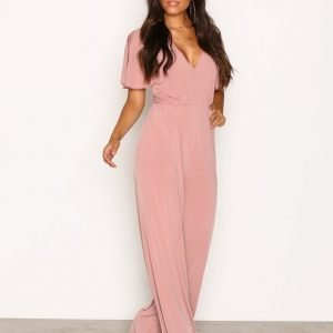 Nly One Twist Back Jumpsuit Blush