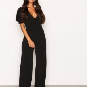Nly One Twist Back Jumpsuit Musta