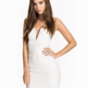 Nly One V Bar Lace Dress Kotelomekko Valkoinen
